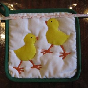 Kitchen - Set of 2 Adorbs Chick Potholders - New